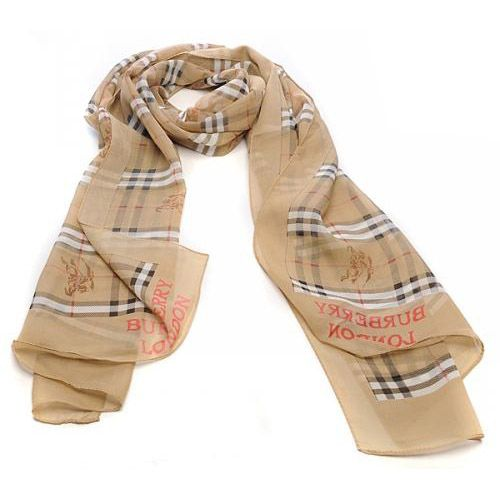 Burberry Giant Check Gauze Scarf Blanched Almond