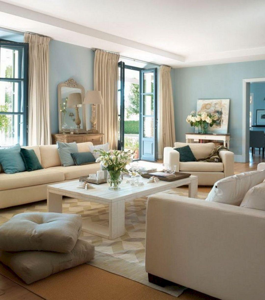 15 Extraordinary Aqua Blue Living Room Design That Looks ...