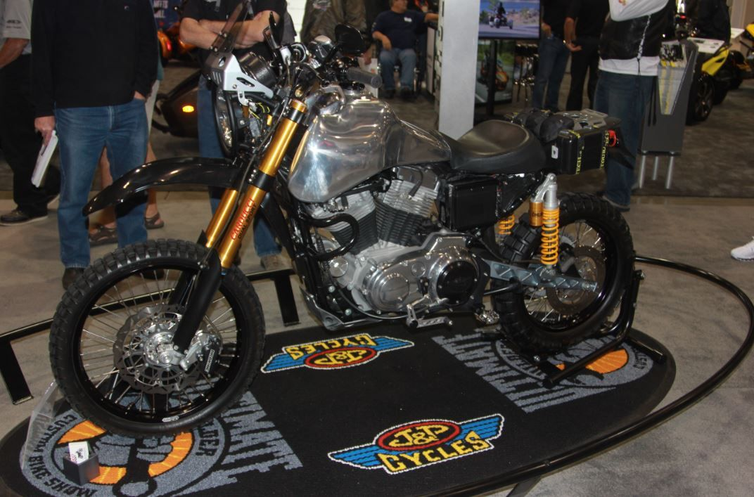 A dual sport 2003 Harley Sportster was crowned champion