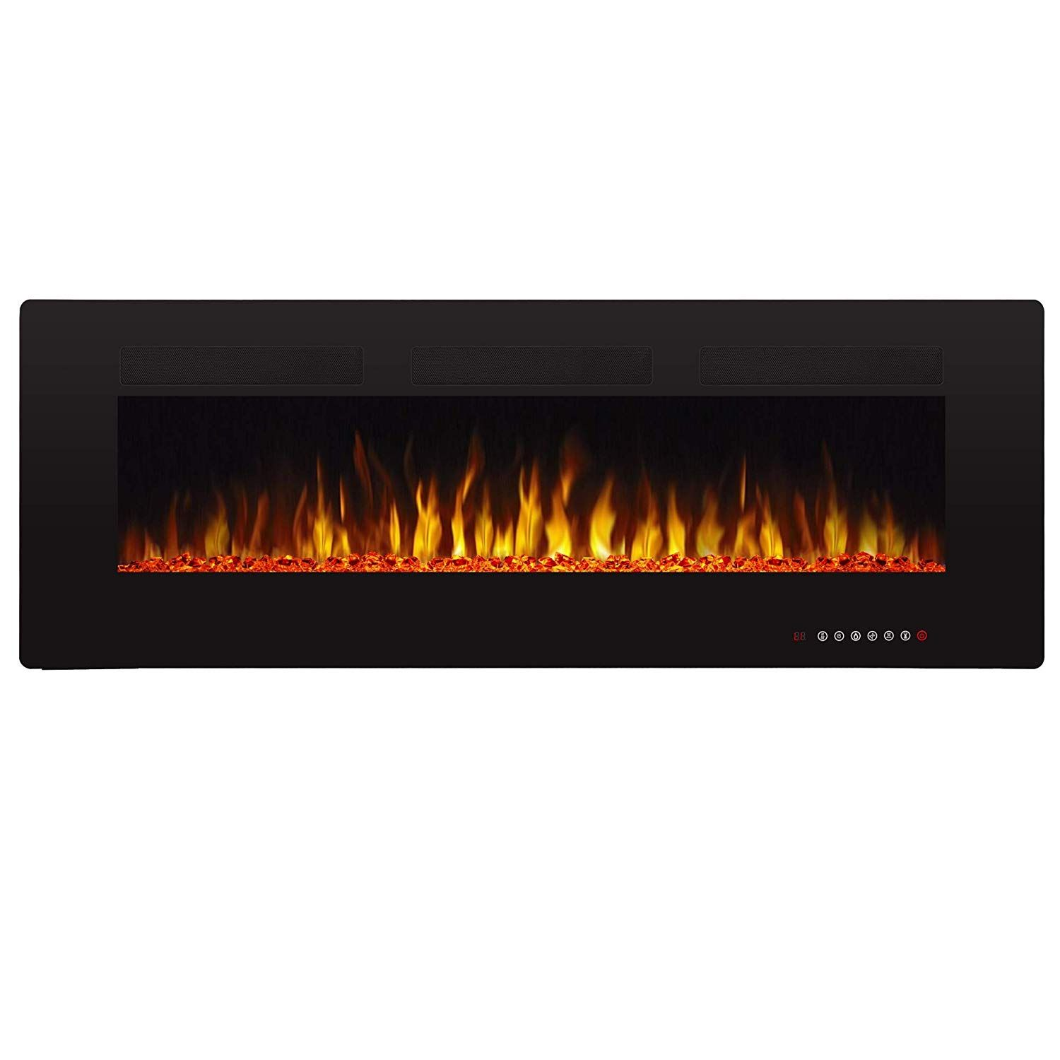 Amazon Com Antarctic Star 50 Recessed Electric Fireplace Built In Wall Wall Mounted Electric Best Electric Fireplace Fireplace Recessed Electric Fireplace