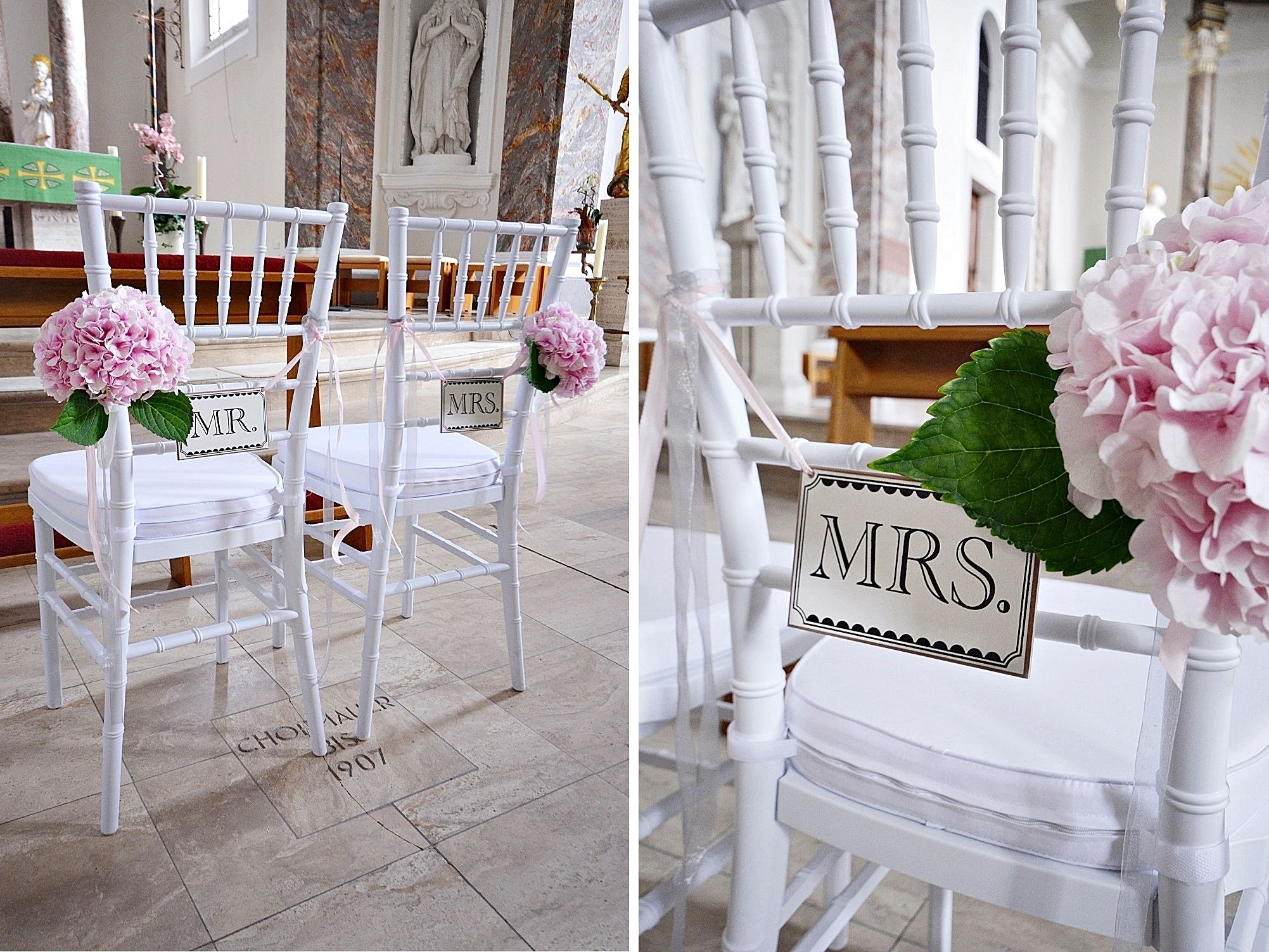 chiavari chair hortensien kirche deko tischdeko hochzeit pinterest hortensien tischdeko. Black Bedroom Furniture Sets. Home Design Ideas