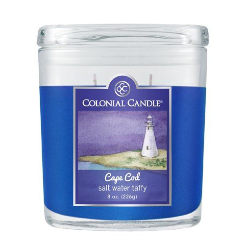 Colonial Candle Cape Cod Sale Water Taffy 8-Ounce Oval Jar Candle ...