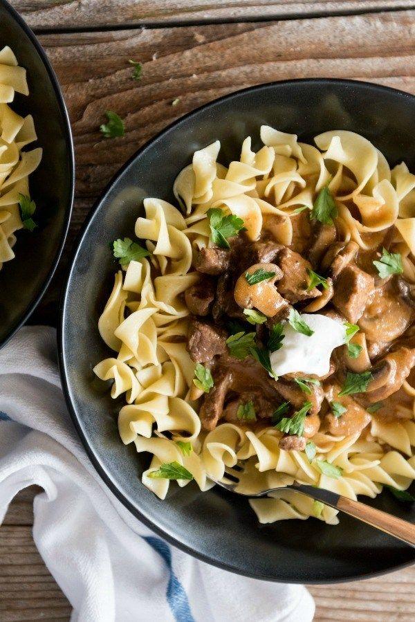 instant pot beef stroganoff  recipe  beef stroganoff