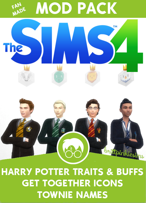 brittpinkiesims♥ TS4 Harry Potter traits + NPC names | Sims Goodies