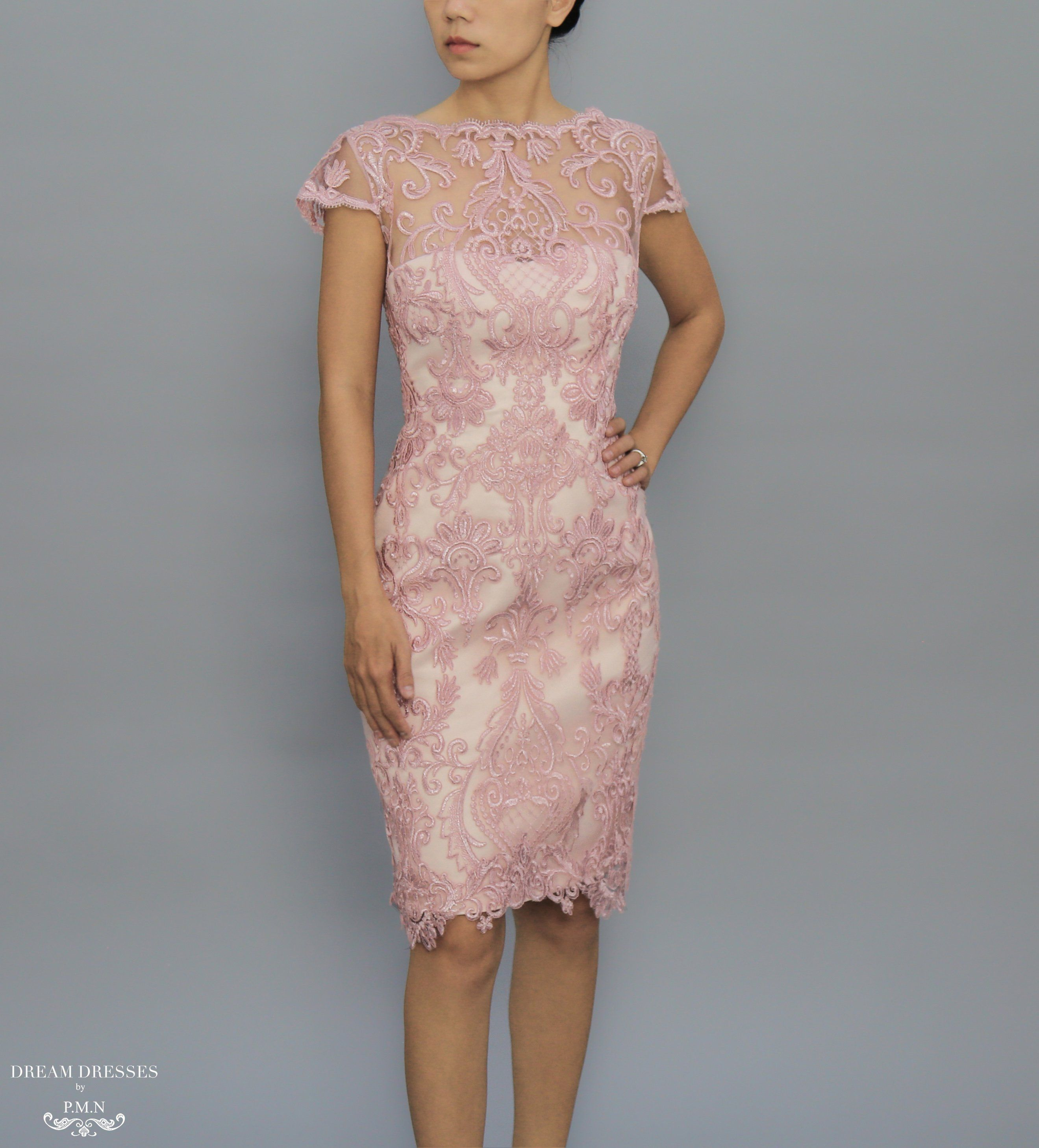 Knee Length Mother Of The Bride Dress Karina With Images