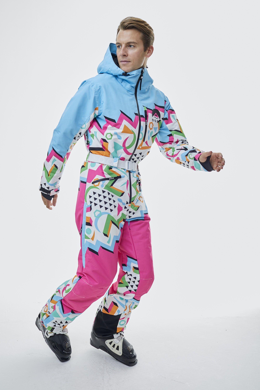 Nuts Cracker Multi Coloured Ski Suit Mens Unisex Oosc Clothing Clothes Ski Suit Mens One Piece