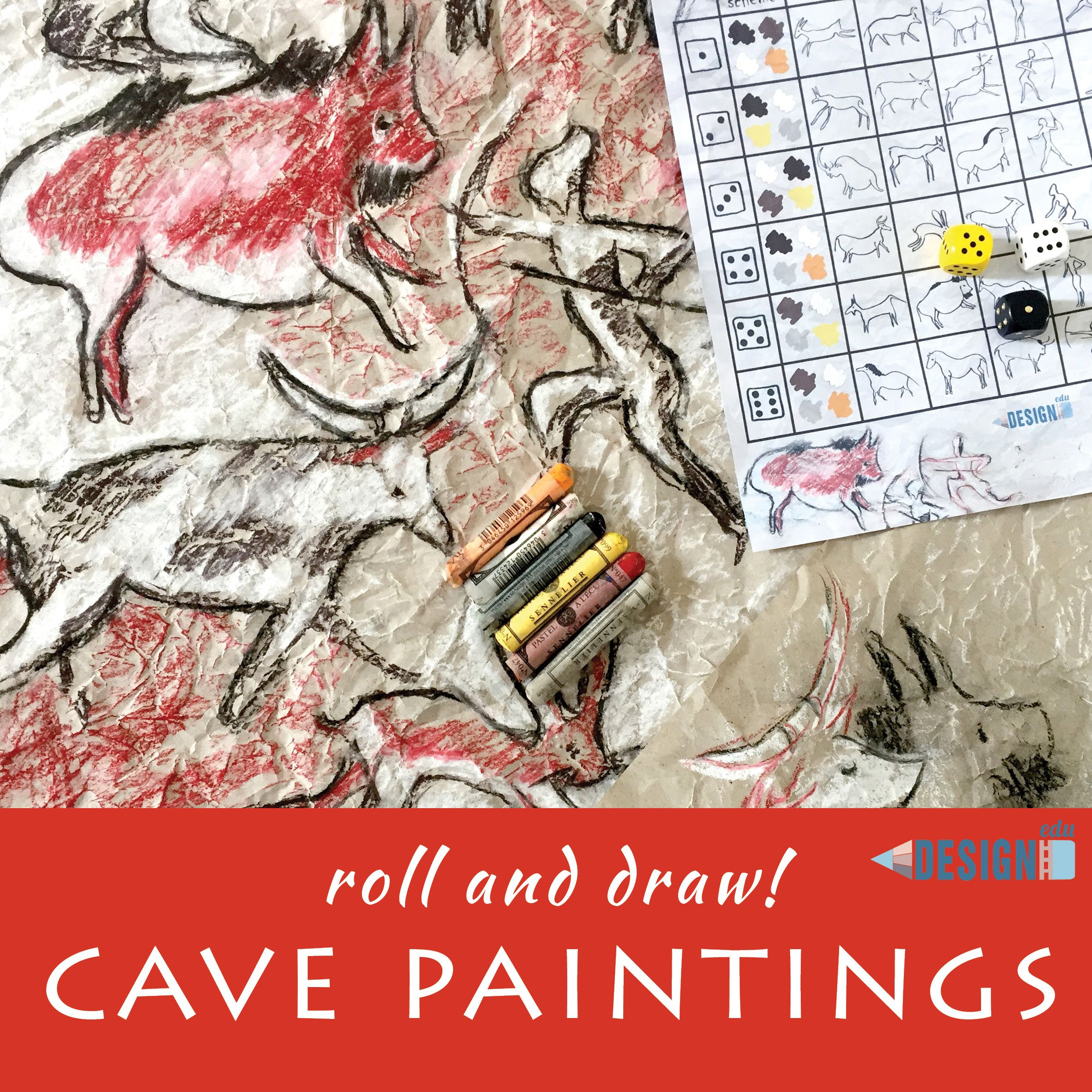Roll And Draw Prehistoric Art