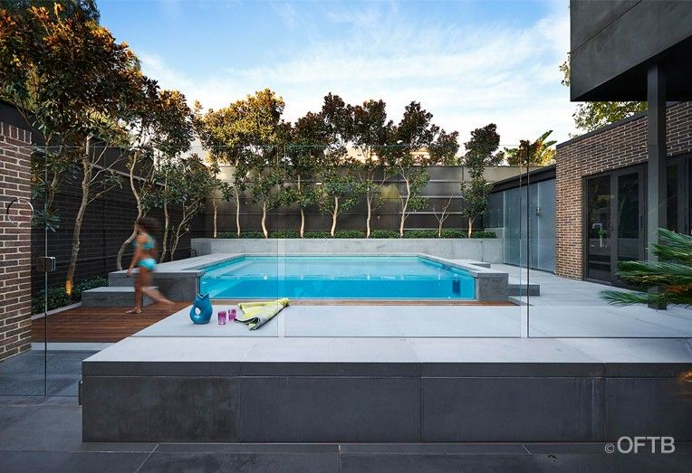 OFTB Melbourne Landscaping, Pool Design U0026 Construction   Family Pool, Tiled  Interior, Bluestone