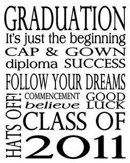 Graduation Subway Art Printable & Card. I'd, of course