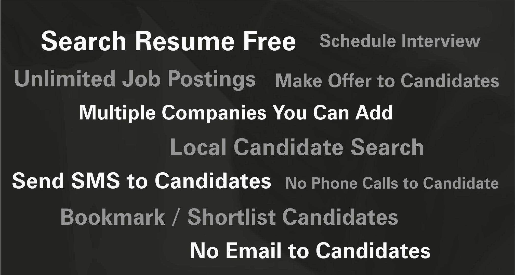 Post A Job Free Access Resume Database Free Resume Job Posting Free Resume