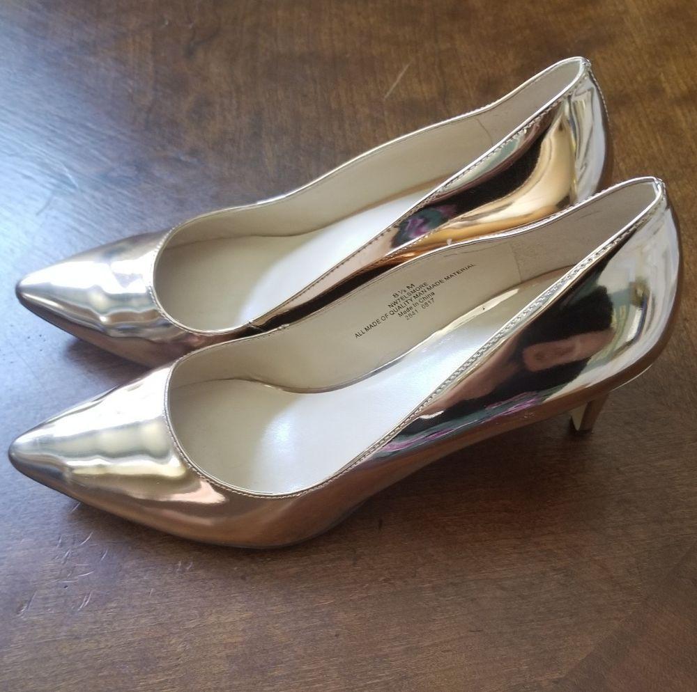 f8df29b136b7 Nine west shoes 8.5 Rose Gold worn once