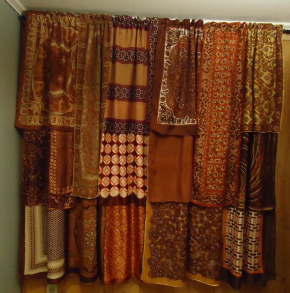 Shades of Brown Gypsy Boho Curtains  63 long by SeaGypsyCaravan