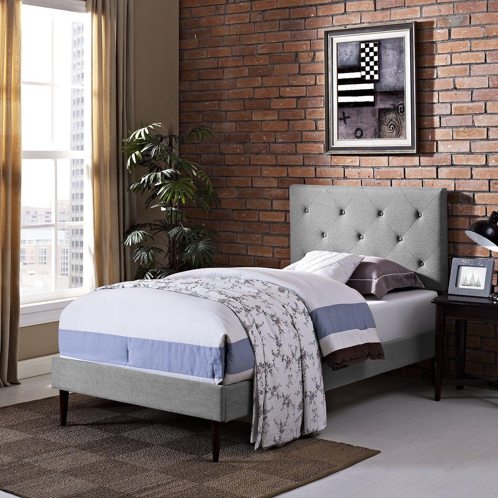 Terisa platform bed. 289.99 Upholstered platform bed