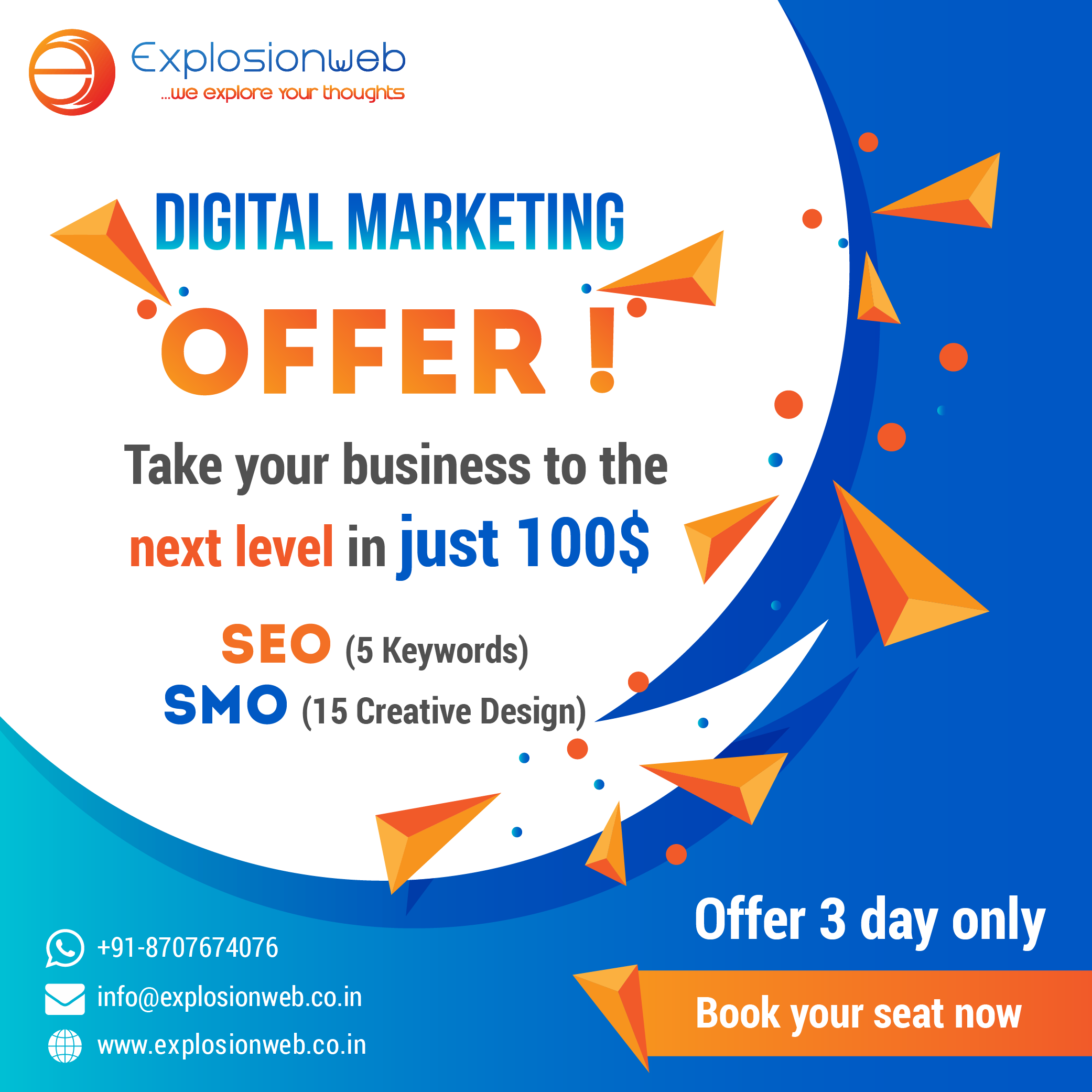 Pin By Explosionweb Solutions On Seo Smo Offers Web Development Design Web Design Digital Marketing