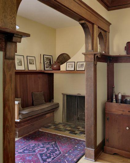 Cozy Entryway Ideas: Book Nook. 1909, Portland, OR Cozy! Entryway?