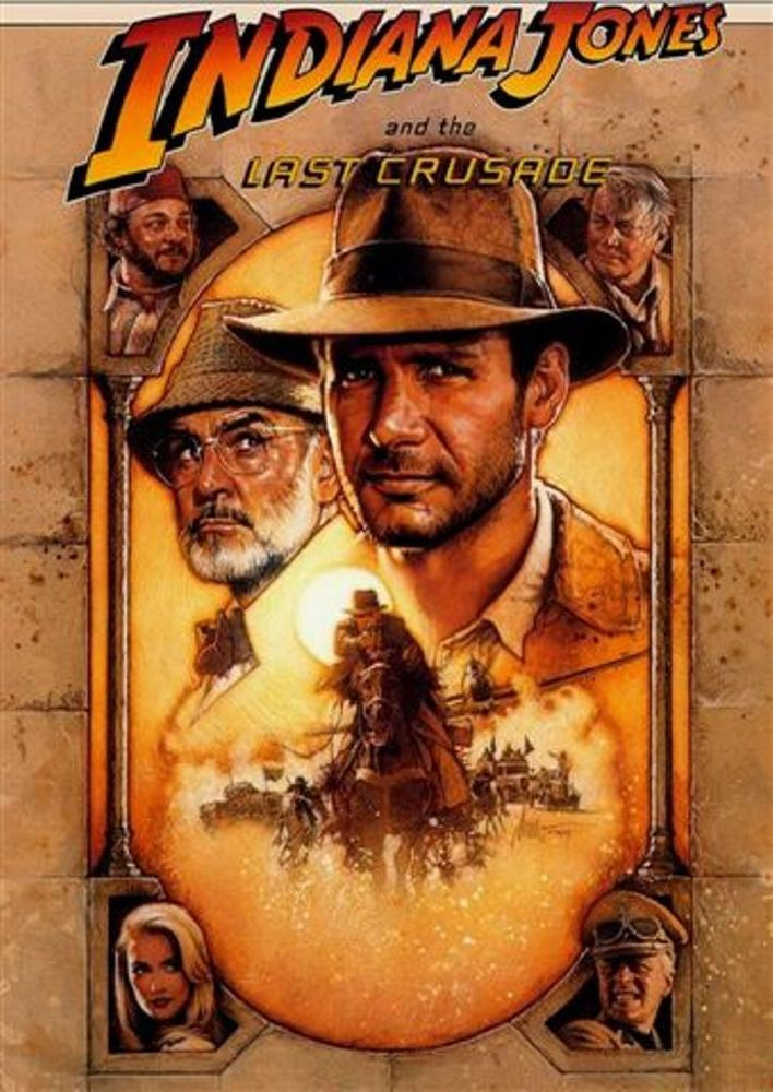 Harrison Ford Sean Connery Indiana Jones Last Crusade Dvd 2008 Steven Spielberg Ebay Indiana Jones Last Crusade Indiana Jones Movie Posters Vintage