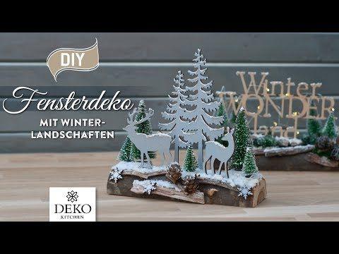 DIY: weihnachtliche Fensterdeko mit hübscher Winterlandschaft [How to] Deko Kitchen (P) #weihnachtlichefensterdeko
