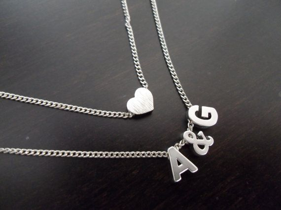 Tiny heart  Necklace Silver Heart charm  by MaryCrystals on Etsy