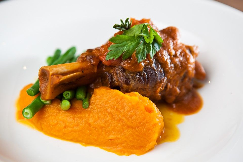 Slow-Braised Lamb With Sweet Potato Mash Recipe — Dishmaps