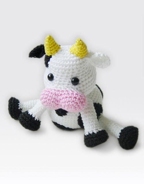 HAPPY COW - Amigurumi Pattern | crochet pattern | Pinterest | Rosas ...