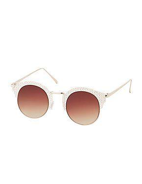f6ebc43974a7 Laser Cut Round Sunglasses