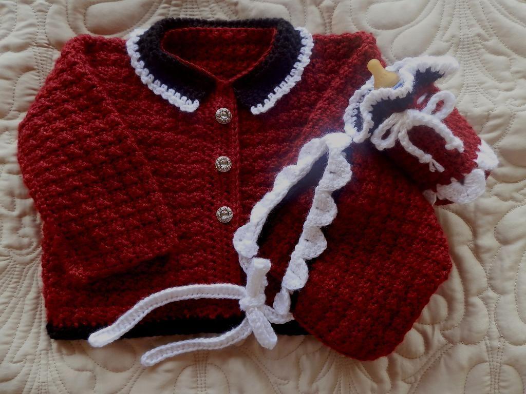 c9546f814423 4) Name   Crocheting   Baby Girl Sweater Crochet Pattern 12-18m ...