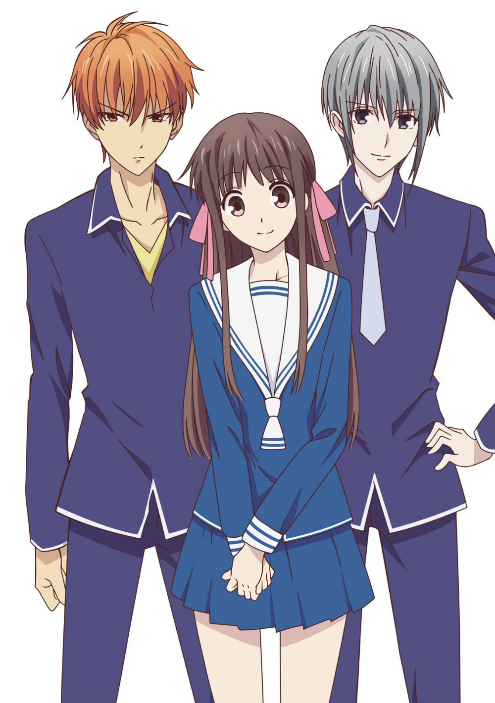 Kyo, Tohru and Yuki Fruits basket, Fruits basket anime