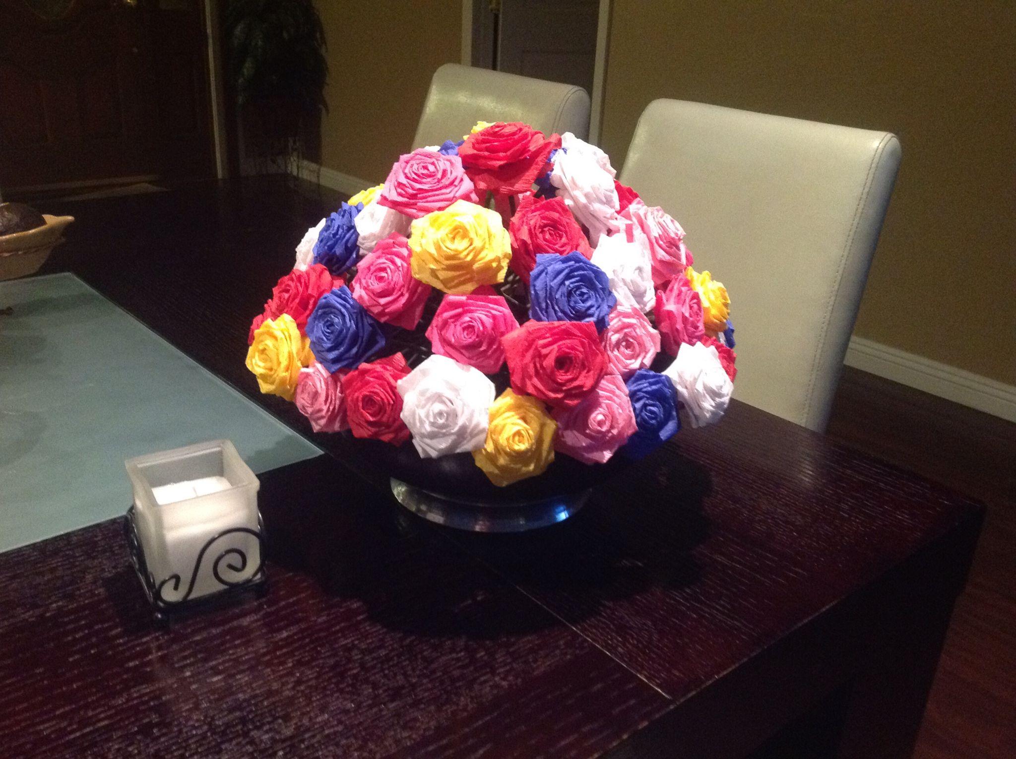 Centro de mesa con flores de papel centros de mesa - Centros de mesa con flores ...