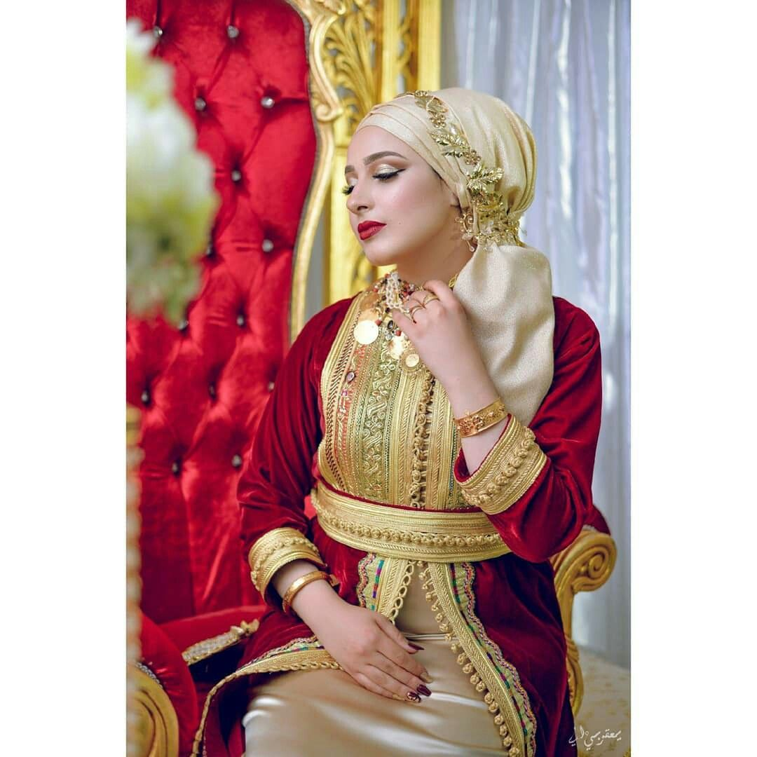 2085ef640 لبسة حنة تونسية | traditional in 2019 | Caftan haute couture, Caftan ...