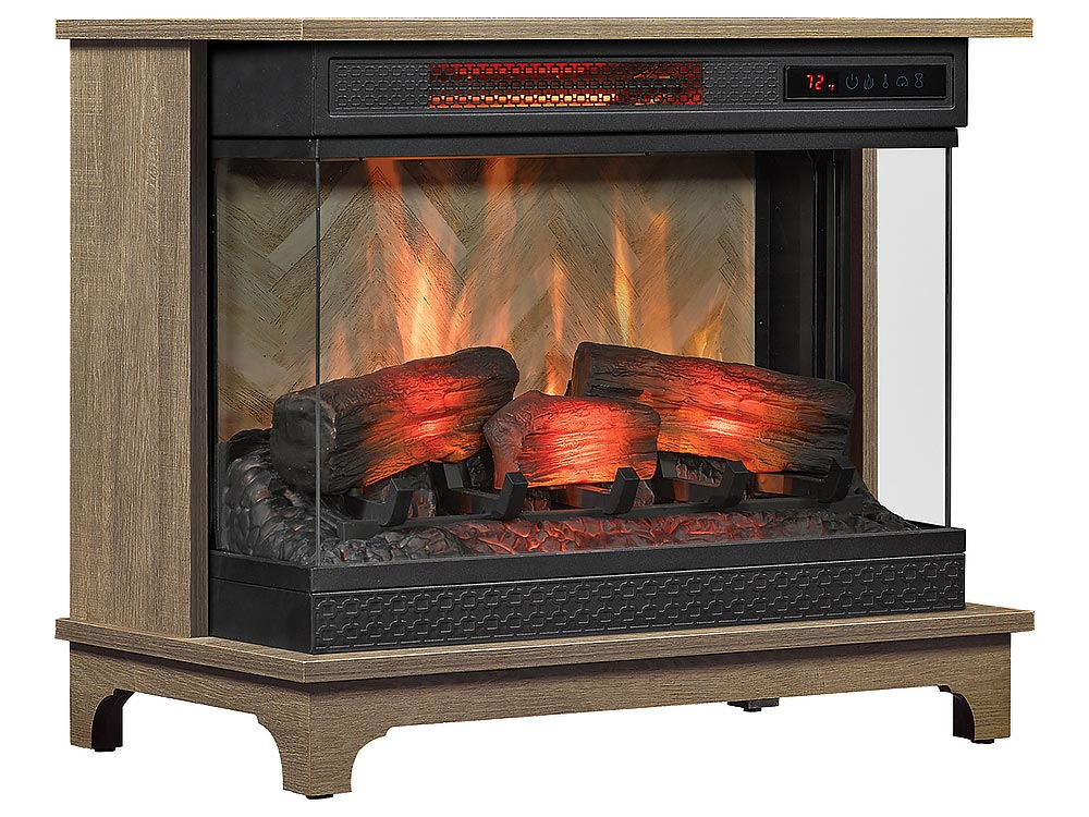 Duraflame Panoglow Chico Oak Infrared Electric Fireplace Stove W Remote Control 24wm6549 Po127 Duraflame Electric Fireplace Stove Fireplace Fireplace