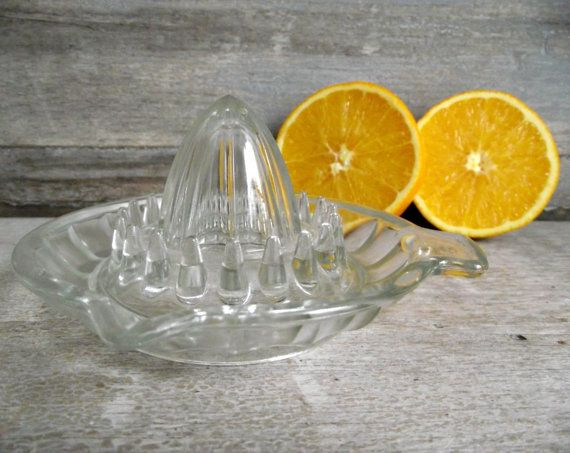 French Glass Reamer Vintage Citrus Juicer By Reims France Etsy Citrus Juicer Reamers Juicer