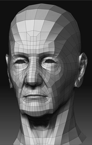 3ds max head old man zbrush topology pinterest 3ds for 3ds max face modeling