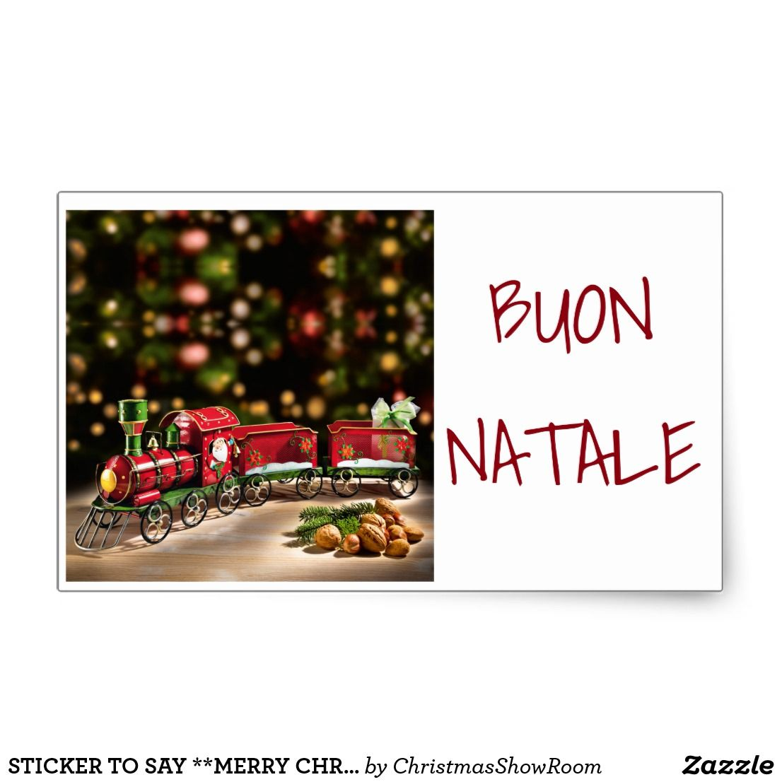 Sticker To Say Merry Christmas Italian Style Cardsproducts