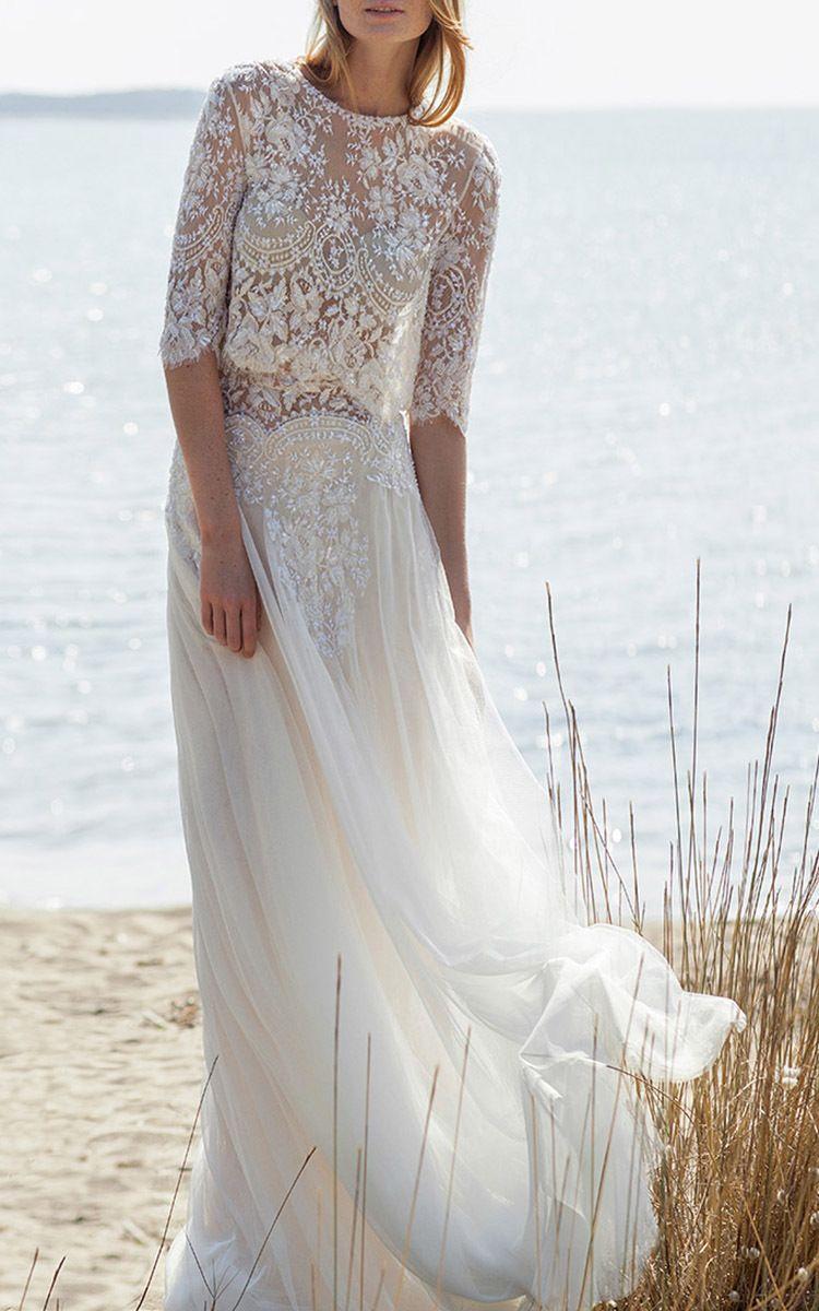 Scalloped beaded lace blouse robe de mariee pinterest wedding