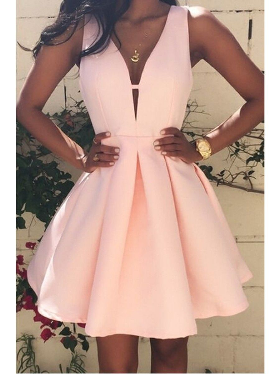 Aline vneck short prom homecoming graduation dresses