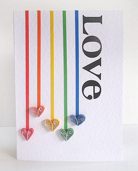 Quilled hearts also use my hands tarjetas sobres de papel filigrana rh ar pinterest