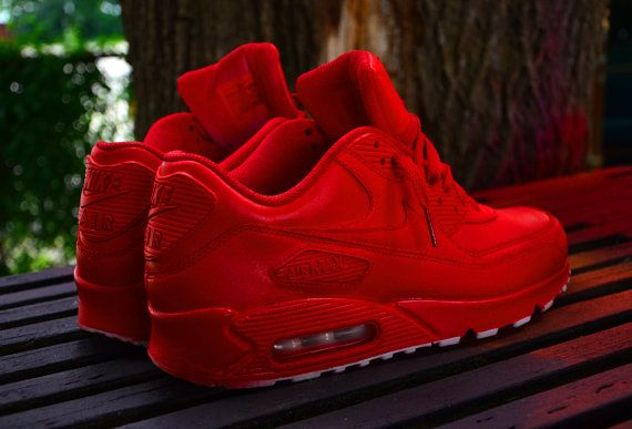Red nike shoes, Nike air max 90 white