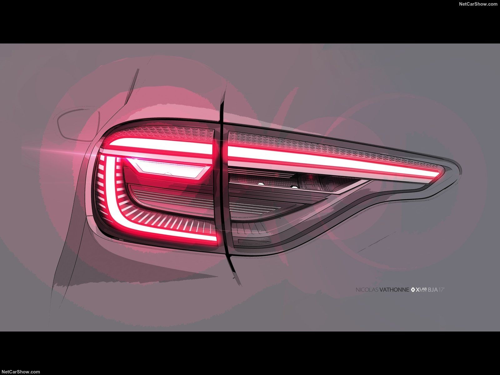 2020 Renault Clio Taillight Design Sketch Car Design Sketch