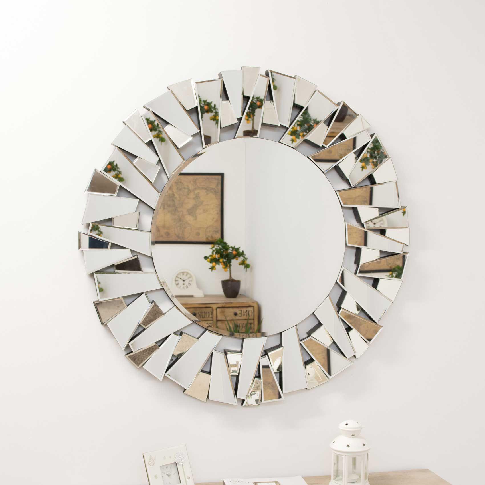 Ashford Funky Round Mirror 98x98cm Soraya Interiors Uk Mirror Wall Round Mirrors Mirror