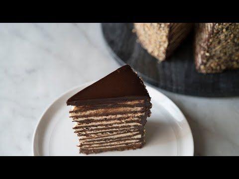 18 LAYER CHOCOLATE PRALINE CAKE #pralinecake