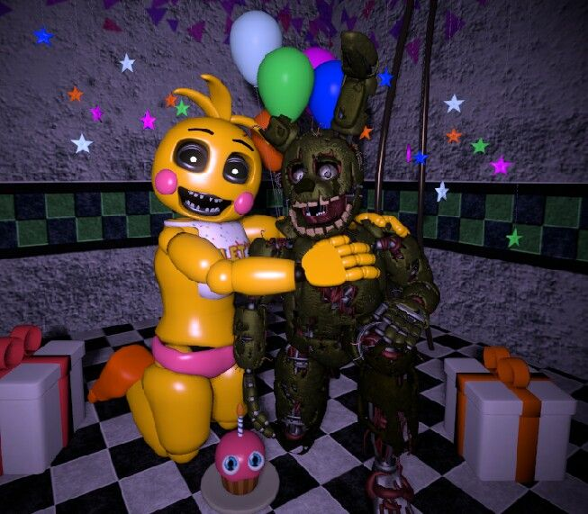 Our Friends And I Fnaf: Toy Chica And Springtrap! We're So Cute Together!!!