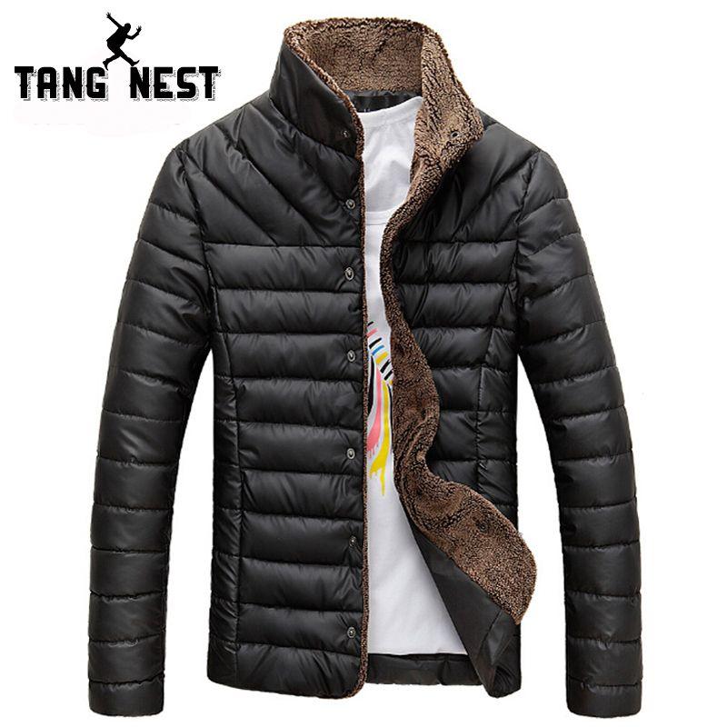 2016 Men ⑥ Winter Jacket Warm Casual All-match Single Breasted Solid Men  Φ_Φ Coat Popular Coat For Male Black Color Size 2016 Men Winter Jacket Warm  Casual ...