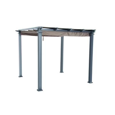 Hampton Bay - Steel Pergola with Canopy - 9.5 Feet X 9.5 ...