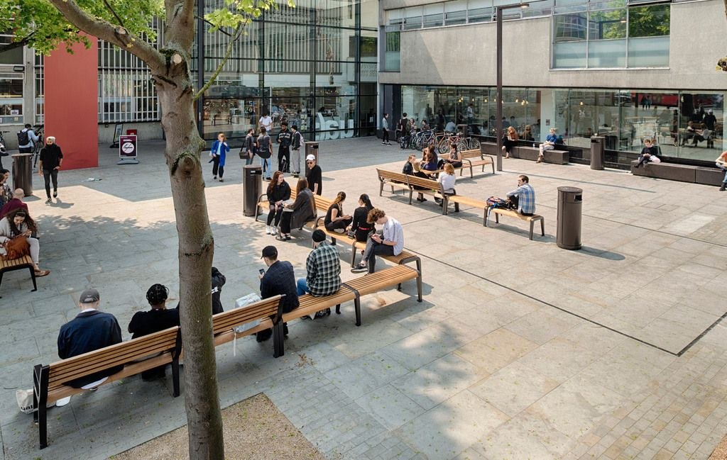 Marshalls - street furniture: Bespoke public seating to encourage social