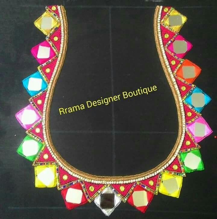 Mirror work blouses pinterest blouse designs