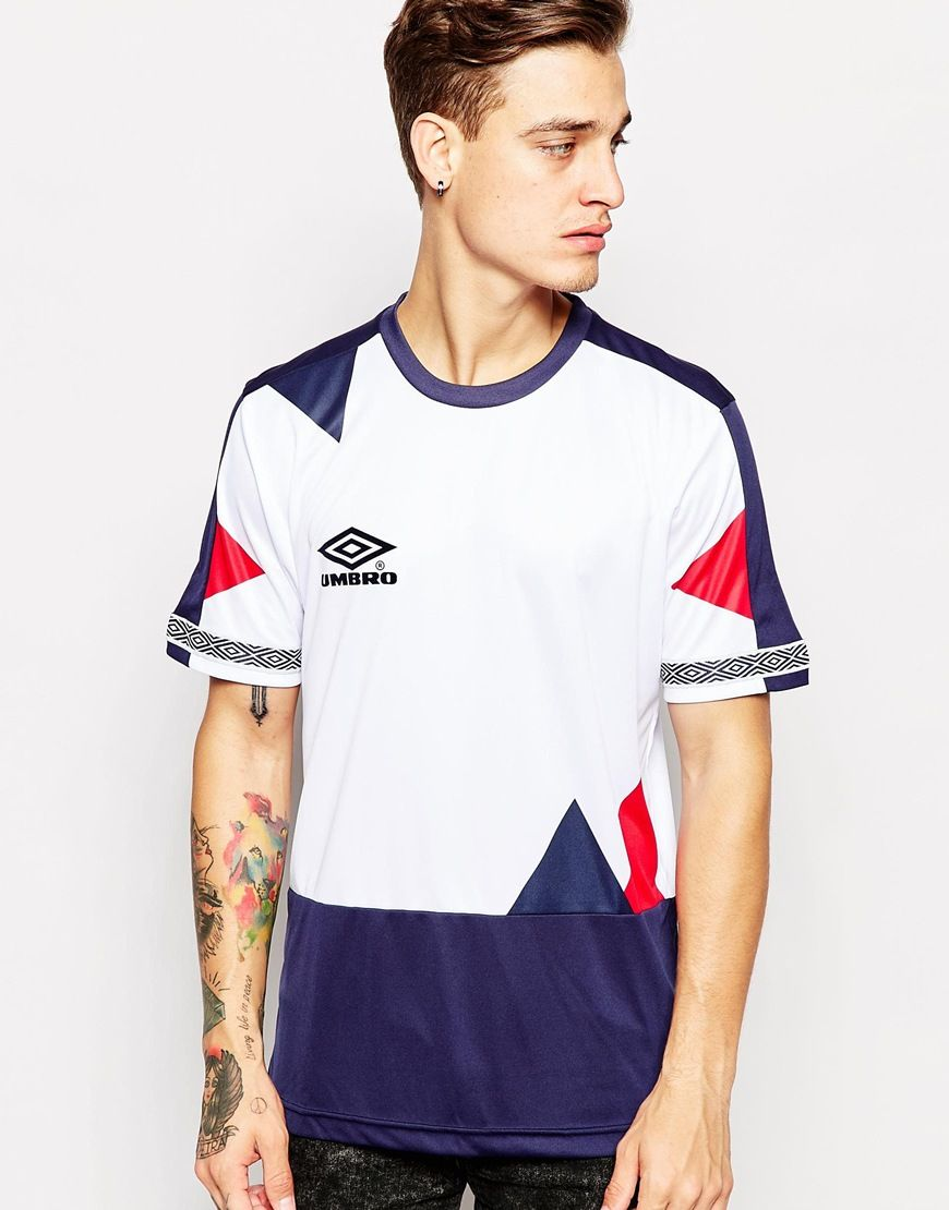 Black umbro t shirt - T Shirt By Umbro Soft Silky Fabric Cut And Sew Design Crew Neck Signature Branding Regular Fit True To Size Machine Wash Polyester Our Model Wears A Size