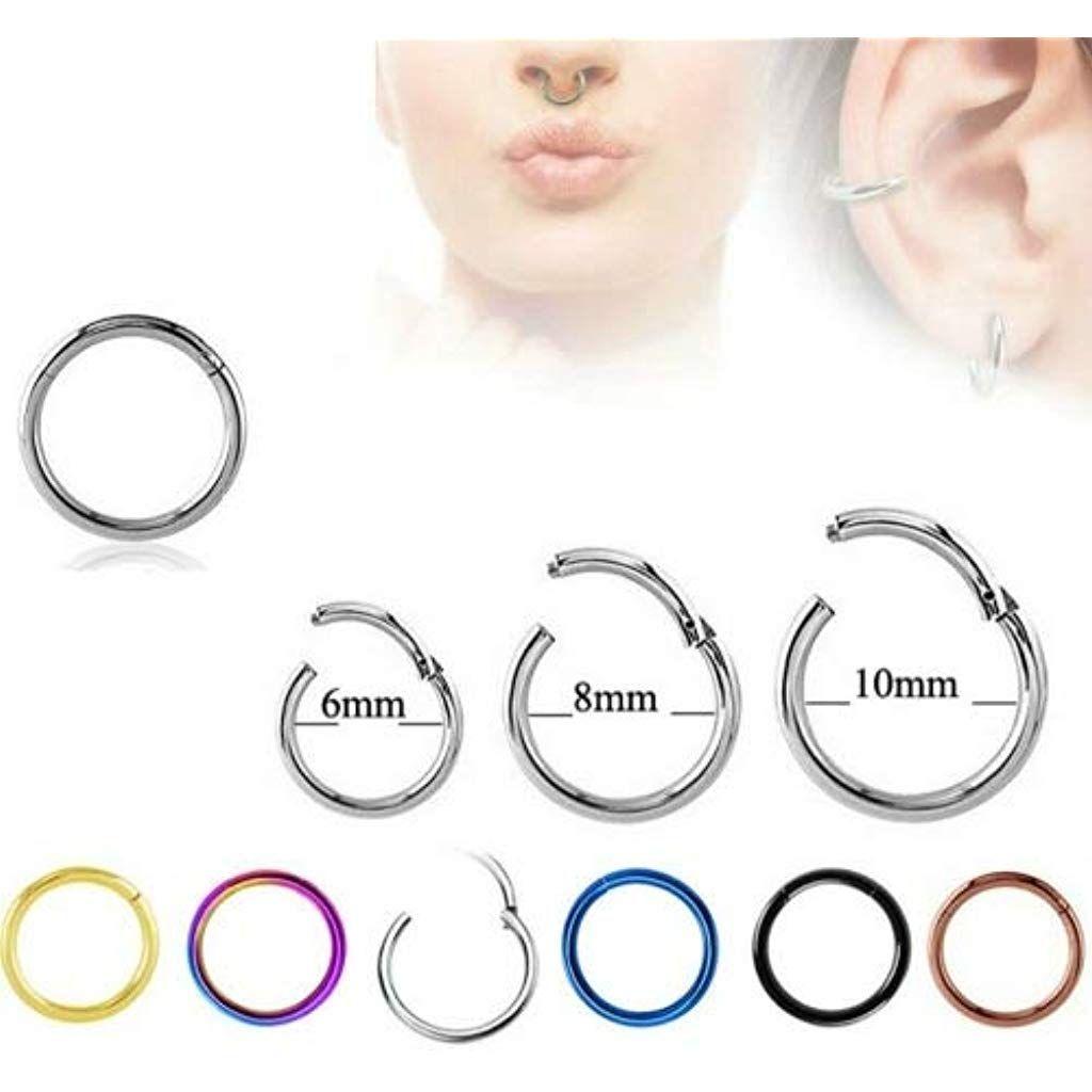 Septum Ring Piercing Klicker Scharnier Segment Kristall Nasenring Tragus Stecker