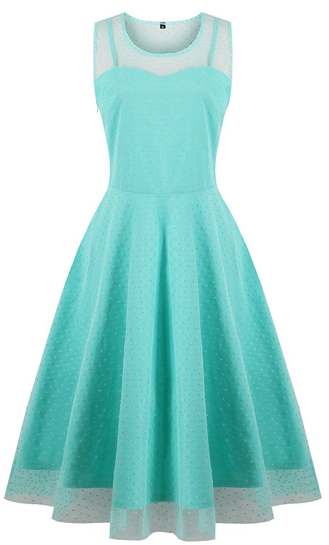 KILOLONE Womens 50s Plus Size Dresses Christmas Party Vintage Retro ...