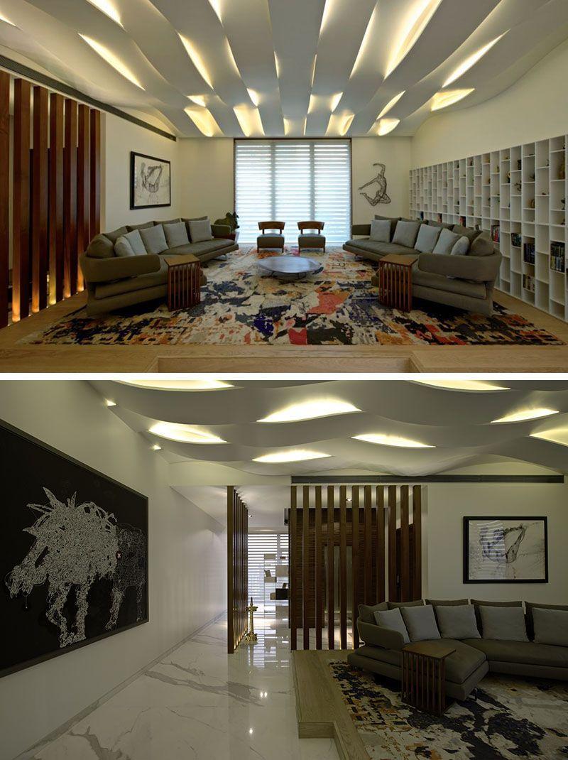 49 Inspiring Sculptural False Ceiling Designs to