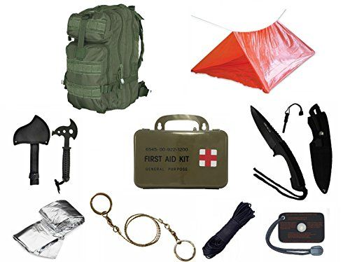 Ultimate Arms Gear Level 3 Assault MOLLE OD Olive Drab Green Backpack Kit Signal Mirror Polarshield Blanket Knife Fire Starter Wire Saw Axe 50 Foot Paracord ...  sc 1 st  Pinterest & Ultimate Arms Gear Level 3 Assault MOLLE OD Olive Drab Green ...